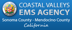 Coastal Valley EMS Agency - Sonoma County and Mendocino County, California - Logo